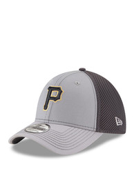 superior quality 989df 79fe9 New Era Pittsburgh Pirates Grey Grayed Out Neo 2 39THIRTY Flex Hat