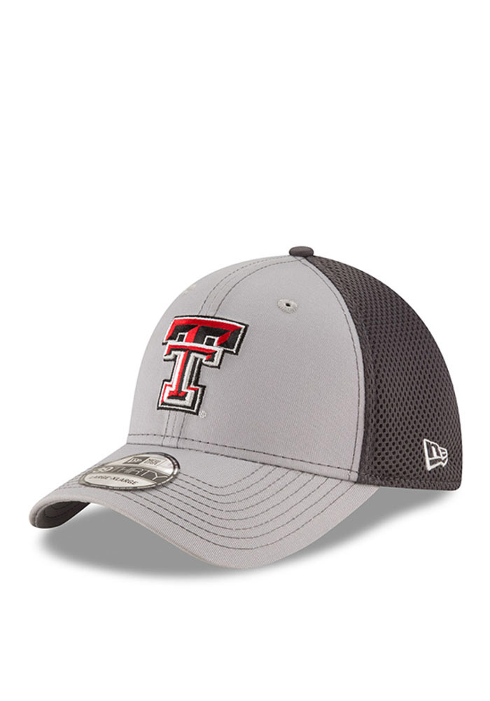 New Era Texas Tech Red Raiders Mens Grey Grayed Out Neo 2 39THIRTY Flex Hat - Image 1