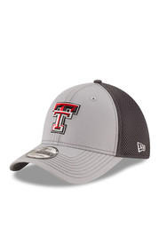 New Era Texas Tech Red Raiders Mens Grey Grayed Out Neo 2 39THIRTY Flex Hat