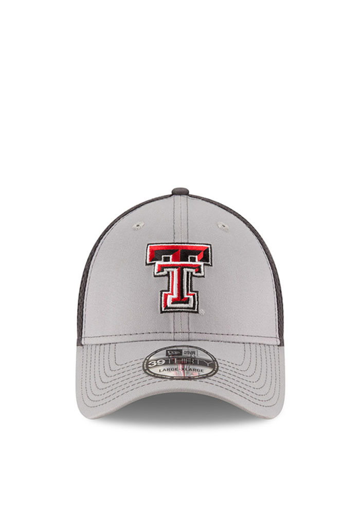 New Era Texas Tech Red Raiders Mens Grey Grayed Out Neo 2 39THIRTY Flex Hat - Image 2