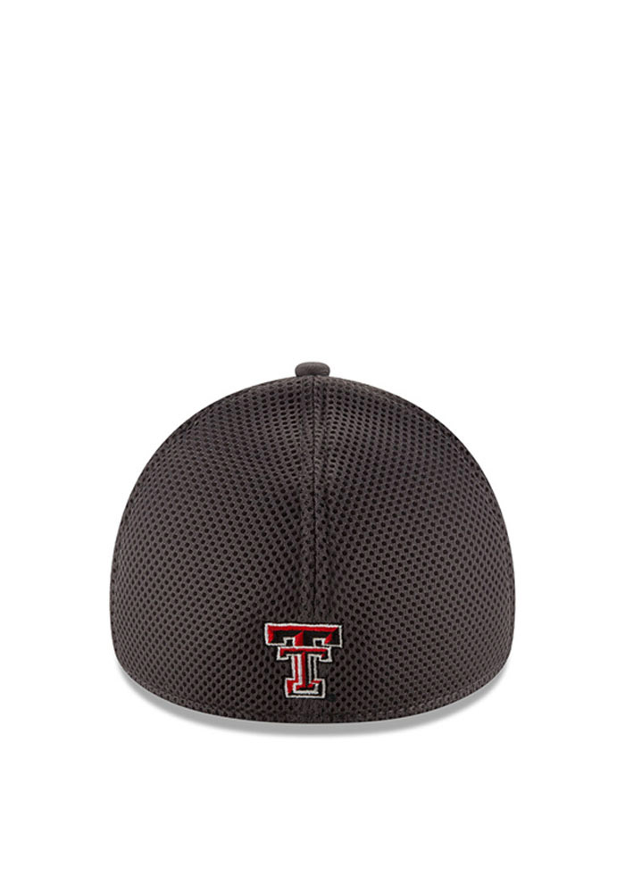 New Era Texas Tech Red Raiders Mens Grey Grayed Out Neo 2 39THIRTY Flex Hat - Image 3