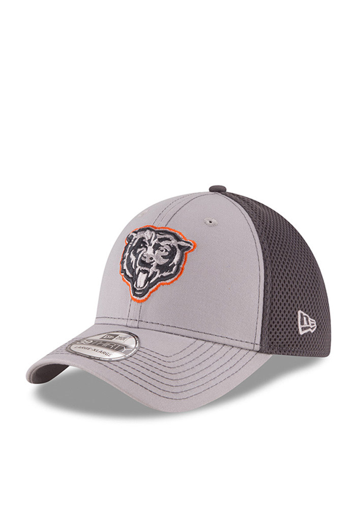 New Era Chicago Bears Mens Grey Grayed Out Neo 2 39THIRTY Flex Hat - Image 1