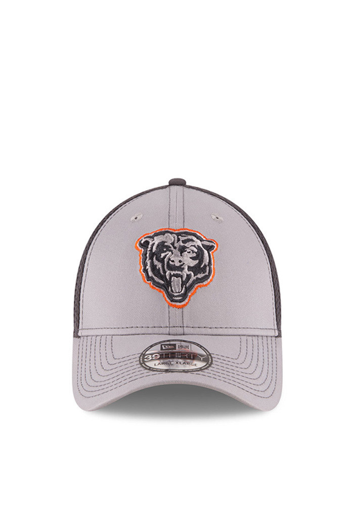 New Era Chicago Bears Mens Grey Grayed Out Neo 2 39THIRTY Flex Hat - Image 2