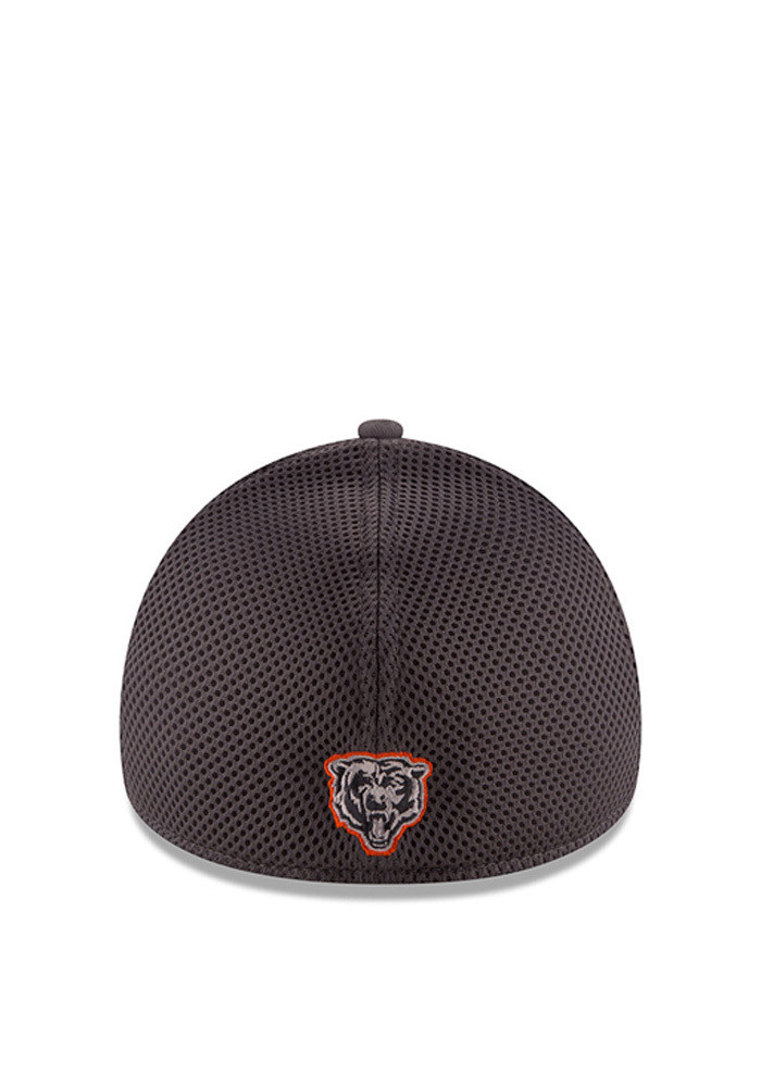 New Era Chicago Bears Mens Grey Grayed Out Neo 2 39THIRTY Flex Hat - Image 3