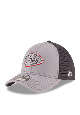 New Era Kansas City Chiefs Mens Grey Grayed Out Neo 2 39THIRTY Flex Hat