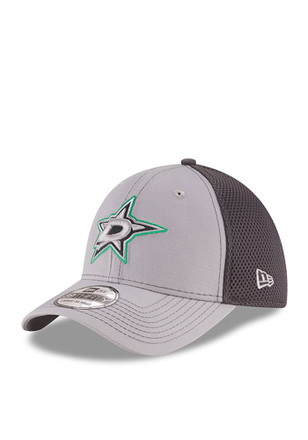 New Era Dallas Stars Mens Grey Grayed Out Neo 2 39THIRTY Flex Hat
