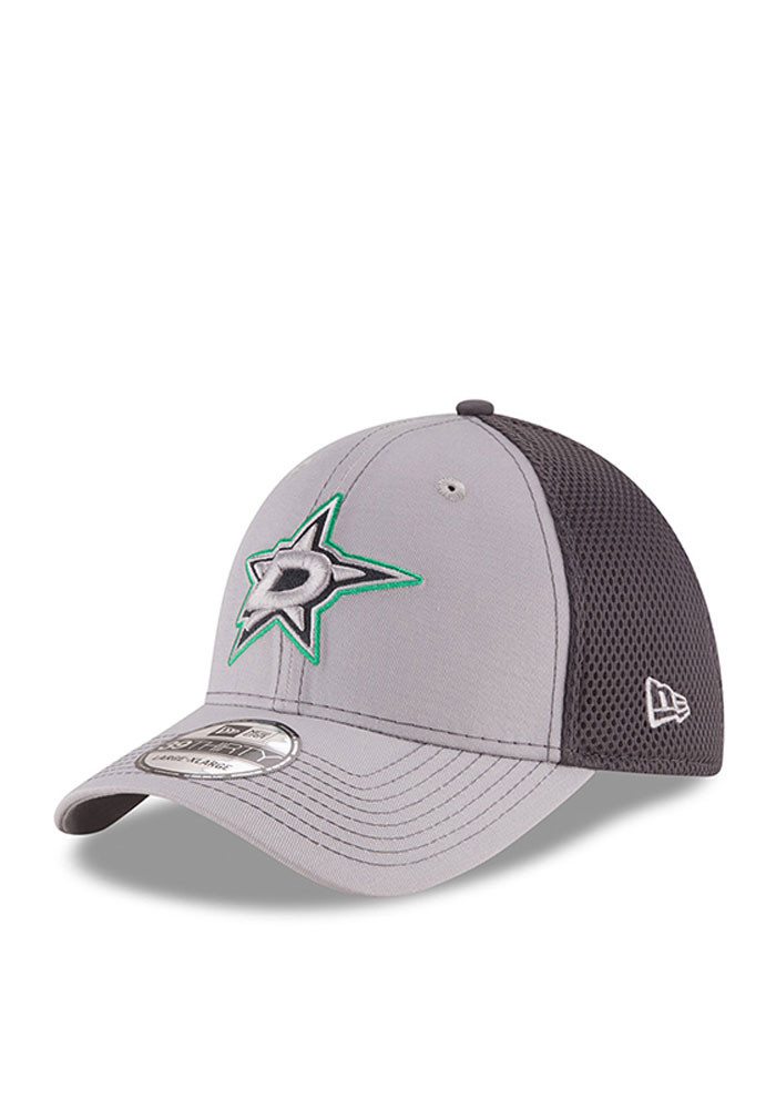 New Era Dallas Stars Mens Grey Grayed Out Neo 2 39THIRTY Flex Hat - Image 1