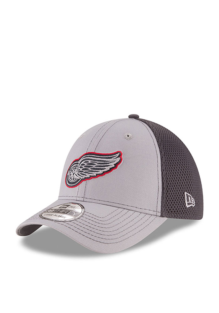 New Era Detroit Red Wings Mens Grey Grayed Out Neo 2 39THIRTY Flex Hat - Image 1
