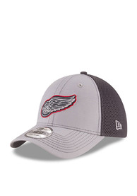 New Era Detroit Red Wings Grey Grayed Out Neo 2 39THIRTY Flex Hat