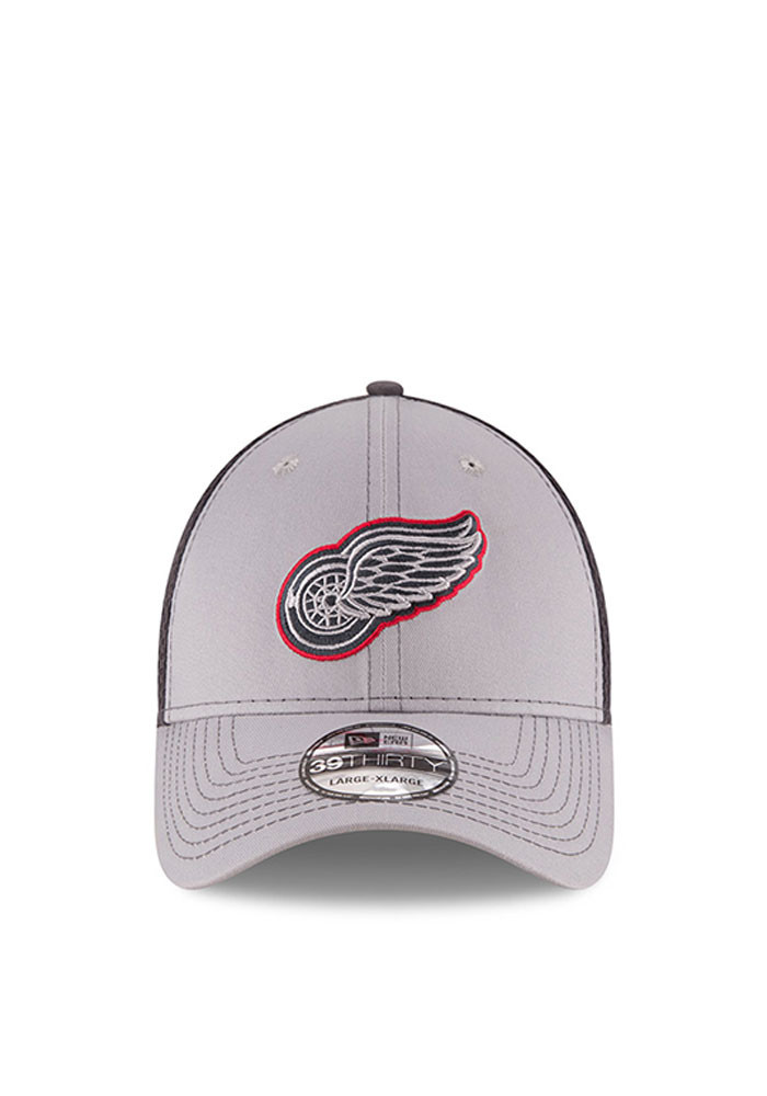 New Era Detroit Red Wings Mens Grey Grayed Out Neo 2 39THIRTY Flex Hat - Image 2