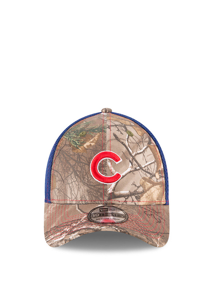 New Era Chicago Cubs Mens Green Realtree Neo 39THIRTY Flex Hat - Image 2