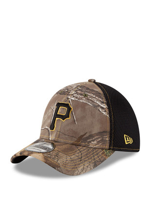 New Era Pittsburgh Pirates Mens Green Realtree Neo 39THIRTY Flex Hat