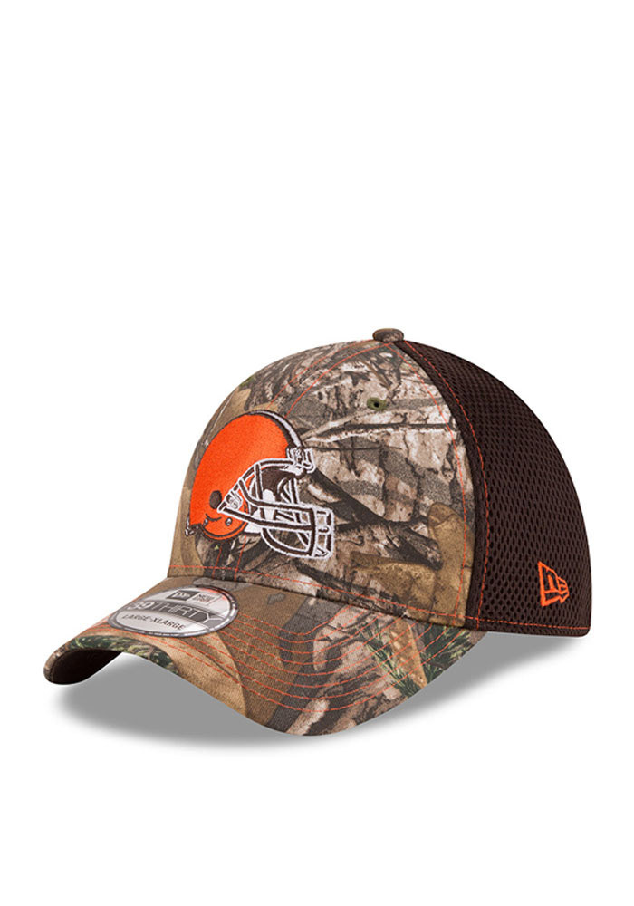 New Era Cleveland Browns Mens Green Realtree Neo 39THIRTY Flex Hat - Image 1