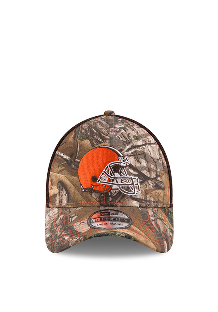 New Era Cleveland Browns Mens Green Realtree Neo 39THIRTY Flex Hat - Image 2