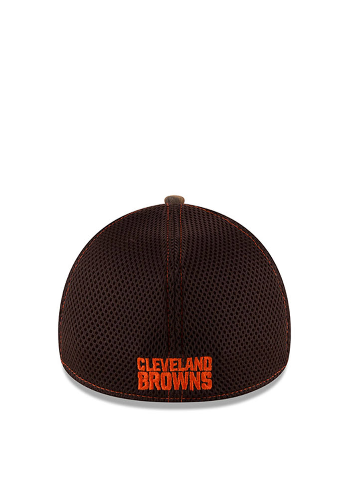 New Era Cleveland Browns Mens Green Realtree Neo 39THIRTY Flex Hat - Image 3