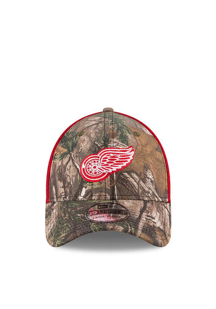 New Era Detroit Red Wings Mens Green Realtree Neo 39THIRTY Flex Hat - Image 2