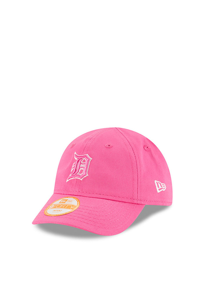 New Era Detroit Tigers Pink My First 9Forty Infant Adjustable Hat - Image 1