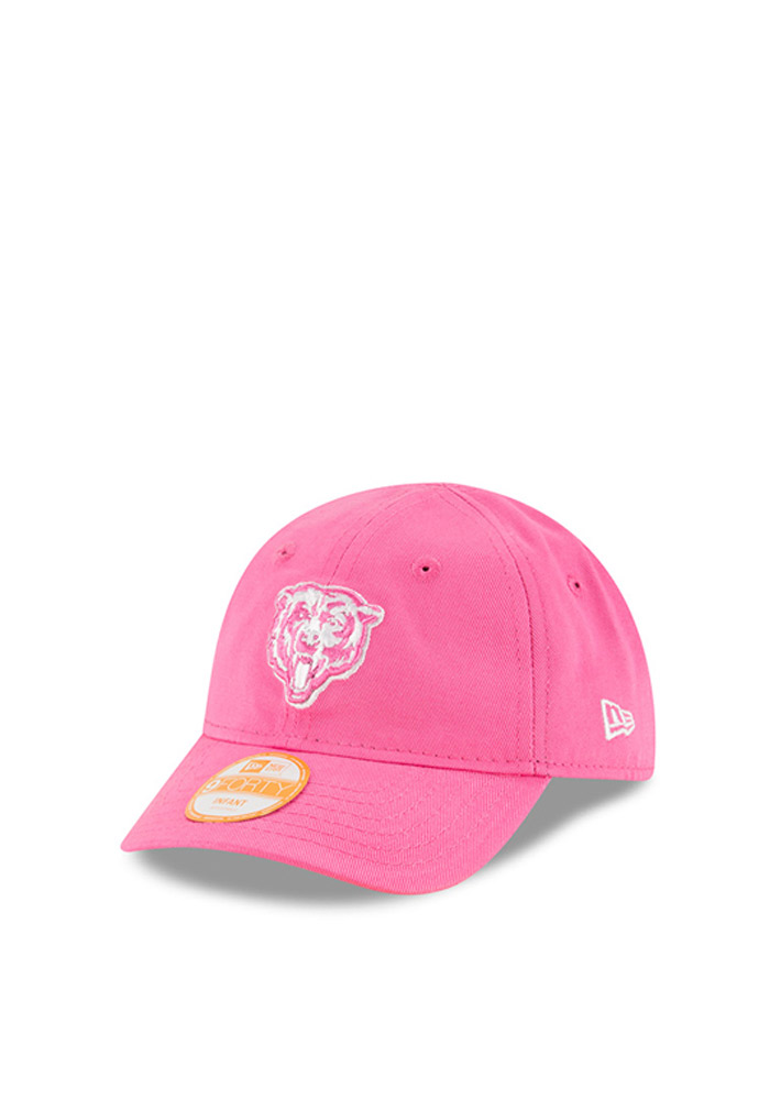 New Era Chicago Bears Baby My 1st 9FORTY Adjustable Hat - Pink - Image 1