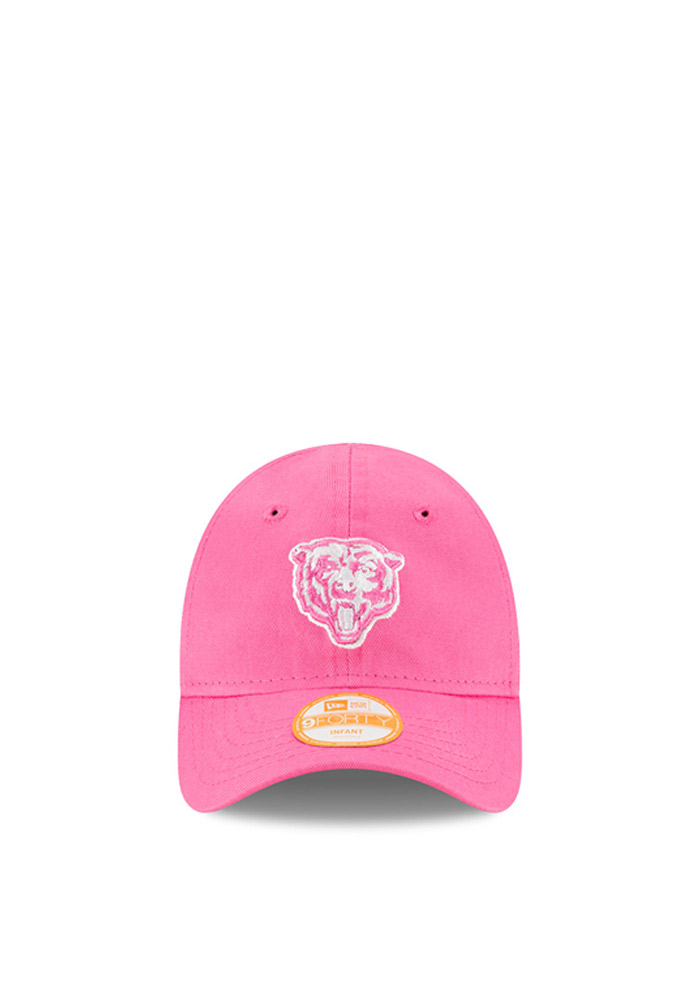 New Era Chicago Bears Baby My 1st 9FORTY Adjustable Hat - Pink - Image 2