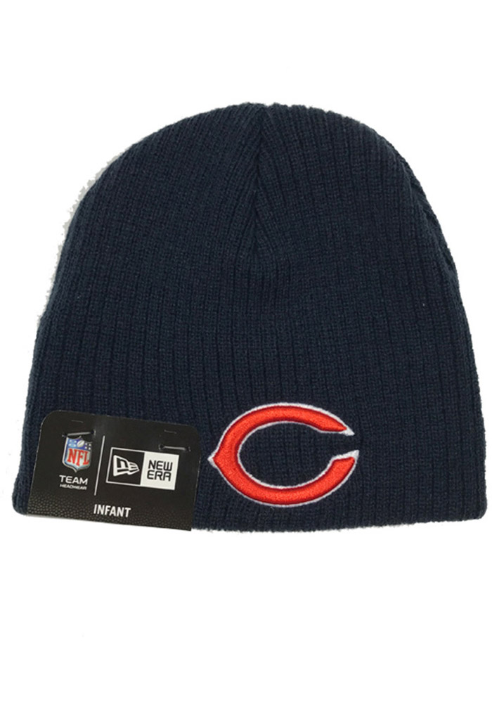 New Era Chicago Bears Navy Blue My First Knit Baby Knit Hat - Image 1