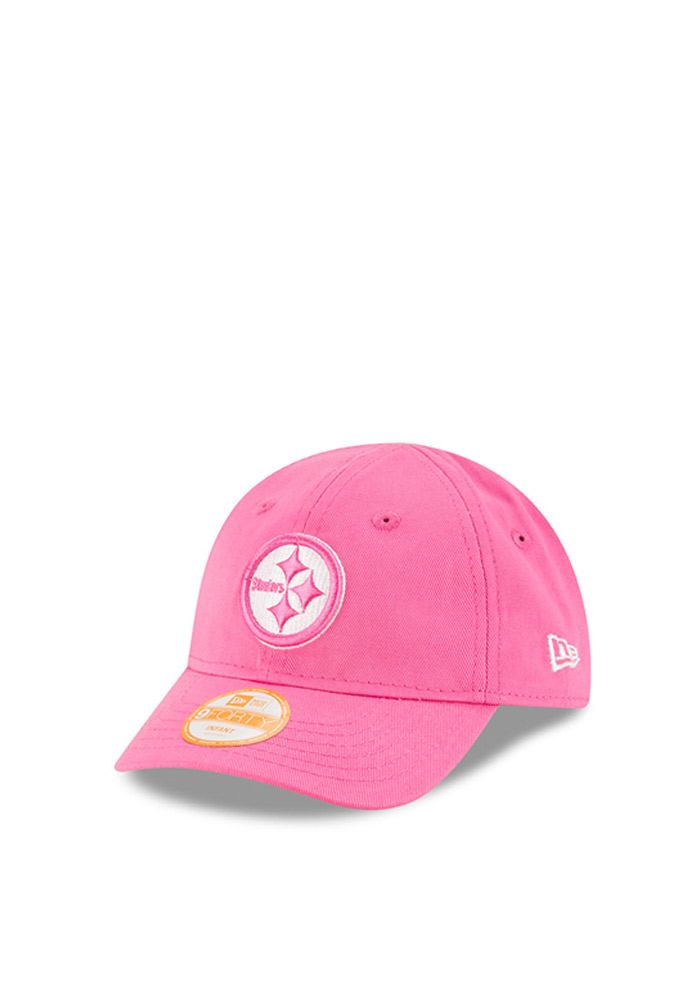 New Era Pittsburgh Steelers Baby My 1st 9FORTY Adjustable Hat - Pink - Image 1