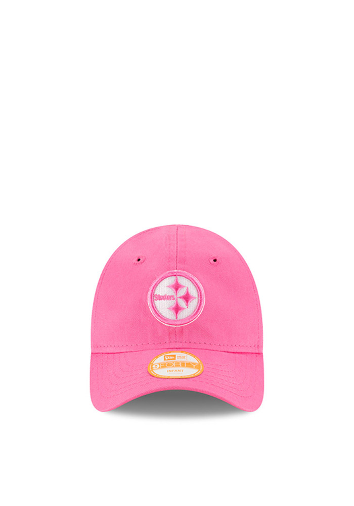 New Era Pittsburgh Steelers Baby My 1st 9FORTY Adjustable Hat - Pink - Image 2