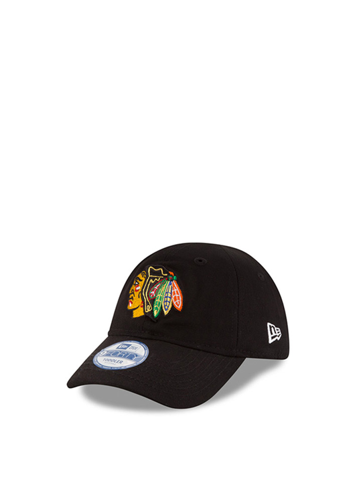 New Era Chicago Blackhawks Baby My 1st 9FORTY Adjustable Hat - Black - Image 1