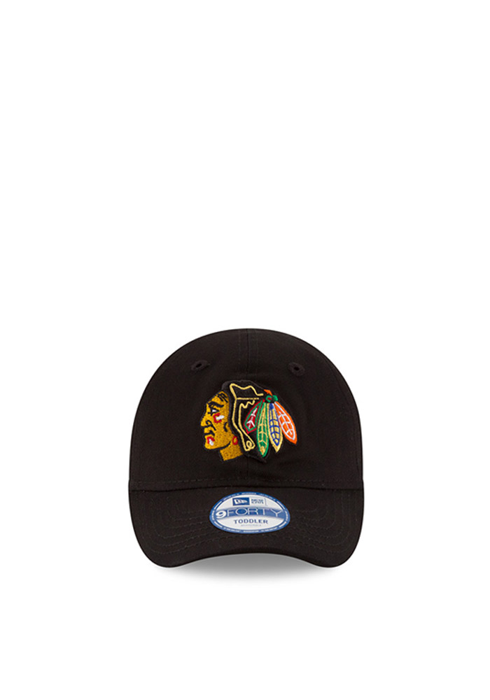 New Era Chicago Blackhawks Baby My 1st 9FORTY Adjustable Hat - Black - Image 2