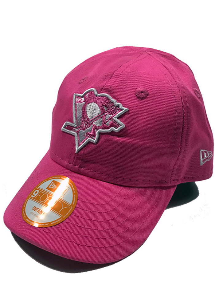 New Era Pittsburgh Penguins Baby My First 9Forty Adjustable Hat - Pink - Image 1