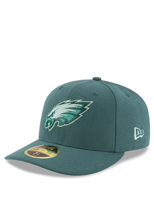 Philadelphia New Era Mens Green Total Team Tonal Low Profile 59FIFTY Fitted Hat