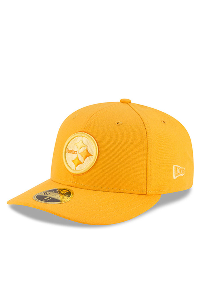 New Era Pittsburgh Steelers Mens Gold Total Team Tonal Low Profile 59FIFTY Fitted Hat - Image 1