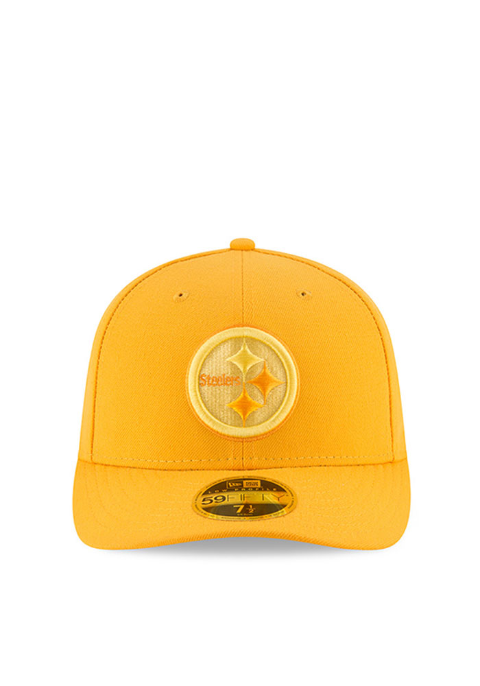 New Era Pittsburgh Steelers Mens Gold Total Team Tonal Low Profile 59FIFTY Fitted Hat - Image 2