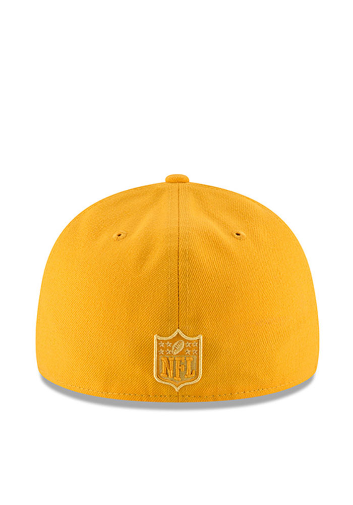 New Era Pittsburgh Steelers Mens Gold Total Team Tonal Low Profile 59FIFTY Fitted Hat - Image 3