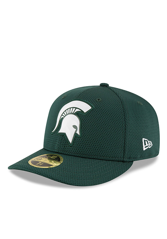 new arrival a95da 4347f New Era Michigan State Spartans Mens Green Bevel Team Low Profile 59FIFTY Fitted  Hat - Image