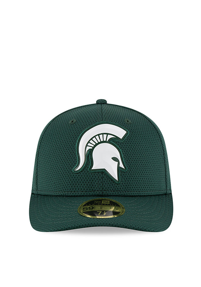 sale retailer 3f2c6 af40f New Era Michigan State Spartans Mens Green Bevel Team Low Profile 59FIFTY  Fitted Hat - Image