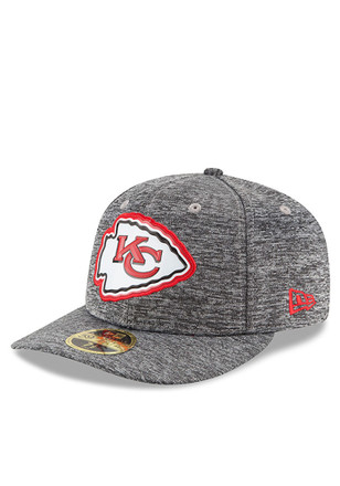 KC Chiefs New Era Mens Grey Bevel Team Low Profile 59FIFTY Fitted Hat
