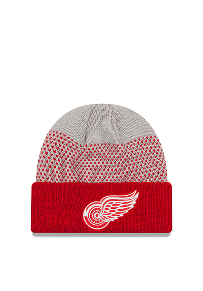 New Era Detroit Red Wings Red Cozy Cover Mens Knit Hat - Image 1