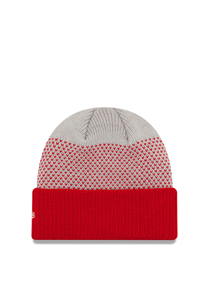New Era Detroit Red Wings Red Cozy Cover Mens Knit Hat - Image 2