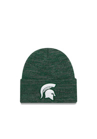 buy online 20a1c 47f0e New Era Michigan State Spartans Green Bevel Team Knit Hat