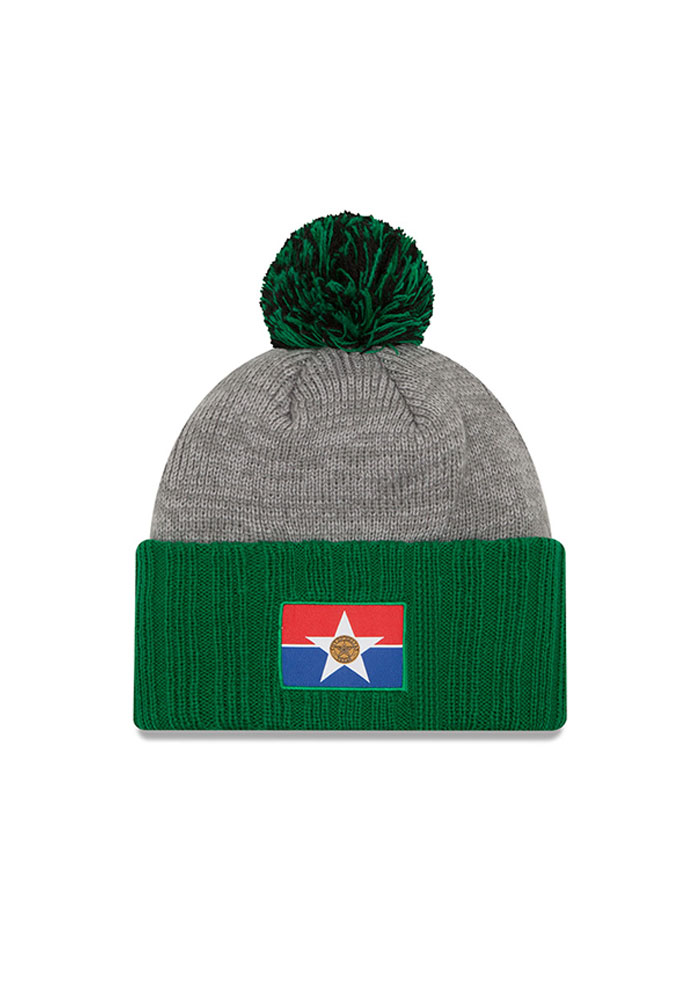 New Era Dallas Stars Grey Flag Stated Mens Knit Hat - Image 2