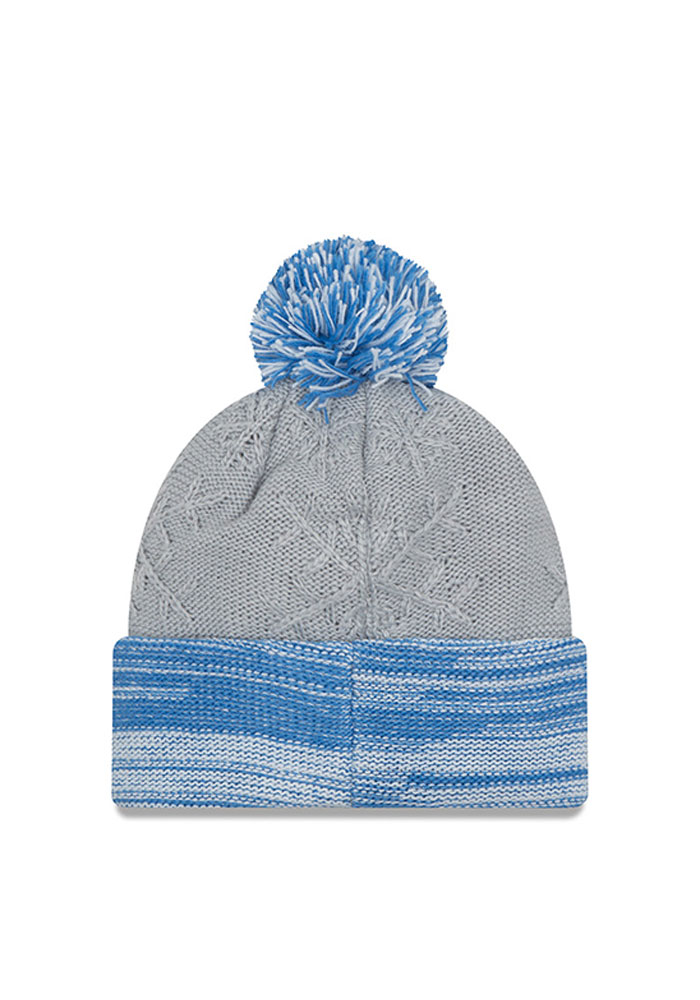 New Era Detroit Lions Grey Snow Crown Redux Womens Knit Hat - Image 2