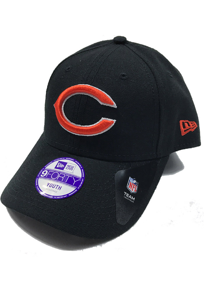 Chicago Bears Black The League 9FORTY Youth Adjustable Hat