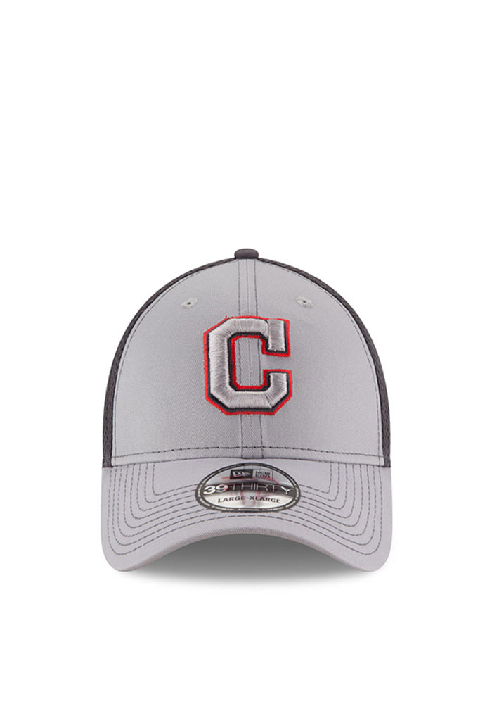 Cleveland Indians Grey Grayed Out Neo 2 39THIRTY Youth Flex Hat - Image 2