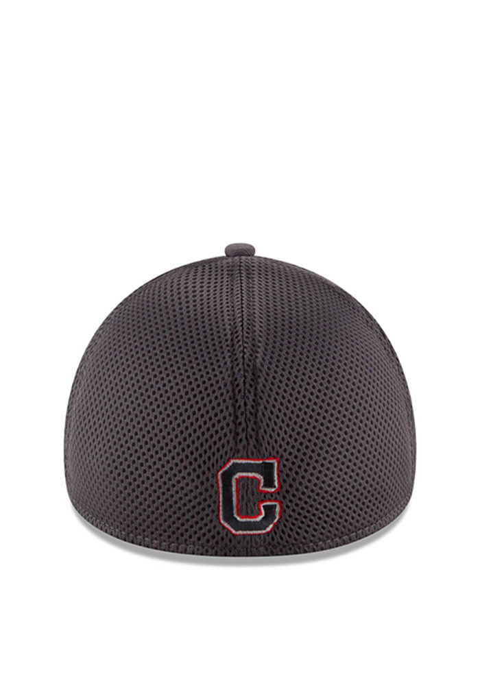 Cleveland Indians Grey Grayed Out Neo 2 39THIRTY Youth Flex Hat - Image 3