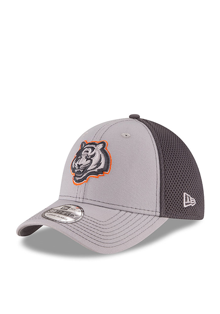 Cincinnati Bengals Grey Grayed Out Neo 2 39THIRTY Youth Flex Hat - Image 1