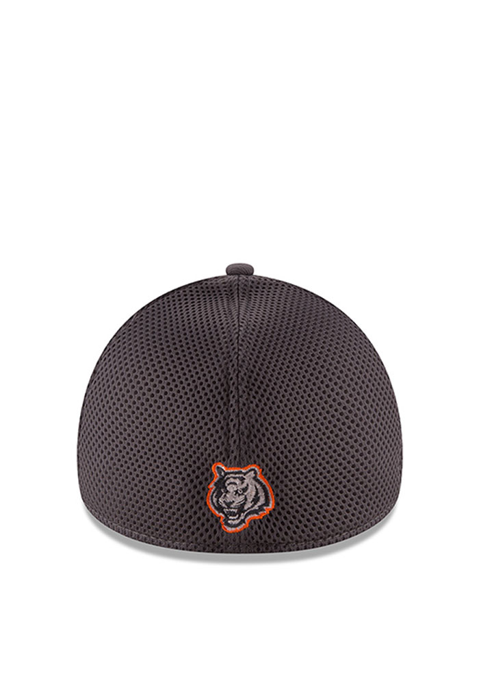 Cincinnati Bengals Grey Grayed Out Neo 2 39THIRTY Youth Flex Hat - Image 2