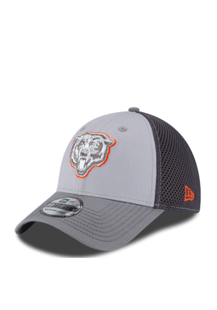 Chicago Bears Grey Grayed Out Neo 2 39THIRTY Youth Flex Hat a858eaee2597