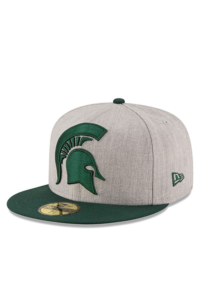 c0a4e50a35b Michigan State Spartans New Era Grey Heather Grand 59FIFTY Fitted Hat