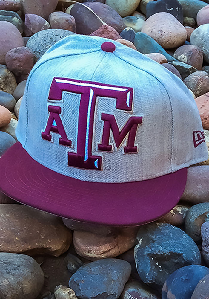 New Era Texas A&M Aggies Mens Grey Heather Grand 59FIFTY Fitted Hat - Image 4