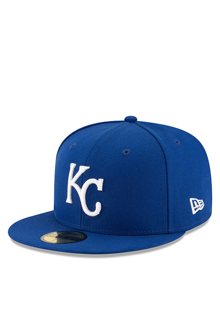 New Era Kansas City Royals Mens Blue Heather Fresh Fit 59FIFTY Fitted Hat - Image 1